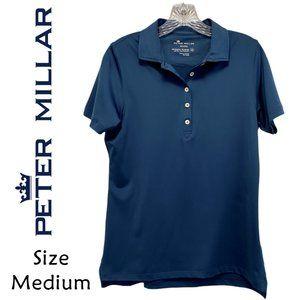 Peter Millar Wicking NAVY Polo Men's Size Medium
